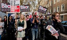 Tony Blair and the protesters who keep trying to arrest him for war crimes | Politics | The Guardian