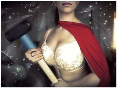 Love this! :-) Curvy bra blogger Miss Shapen presents the Bravengers! Thor