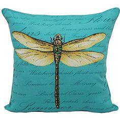 "Mainstays 16"" Outdoor Toss Pillow, Dragonfly"