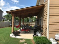 48 backyard porch ideas on a budget patio makeover outdoor spaces best of i like this open layout like the pergola over the table grill 33 ⋆ aviatech. Diy Pergola, Outdoor Pergola, Wooden Pergola, Diy Patio, Outdoor Decor, Pergola Ideas, Porch Ideas, Cheap Pergola, Outdoor Spaces