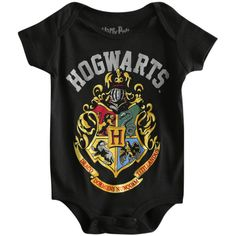 Harry Potter Hogwards Crest Baby Bodysuit | Hot Topic (£11) found on Polyvore