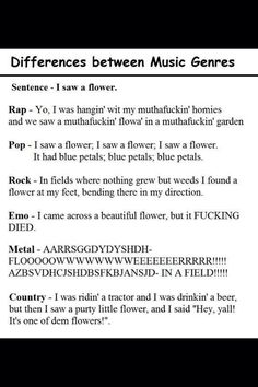 That's why metal is the best genre<<< I was going to say that's why rock is best, but you know, whatever, lol