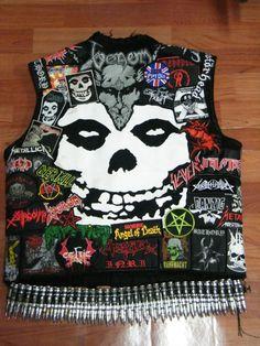 MetalPunk Onslaught from Sabbaticalucifer Combat Jacket, Battle Jacket, Punk Fashion, Rocker Fashion, Danzig Misfits, Metalocalypse, Punk Jackets, Full Metal Jacket, Nuclear War