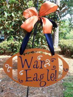 Auburn War Eagle Football Wall Hanging by mountainridgedesigns, $36.00 .... Definitely want this for my house!! WDE.