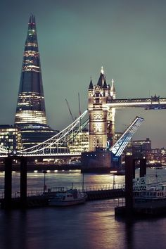 The old and the new, The horrible Shard and the wonderful Tower Bridge, London