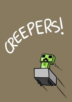 Creepers were born from a coding bug. Check out my 'Did You Know: Gaming' board for more facts about Minecraft and more! Minecraft World, Art Minecraft, Minecraft Posters, Minecraft Beads, Minecraft Comics, Minecraft Pictures, Minecraft Drawings, Minecraft Funny, Minecraft Creations