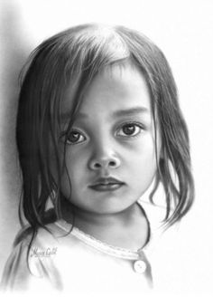 Realistic Portrait Drawing little girl portrait drawing musa Realistic Sketch, Realistic Pencil Drawings, Charcoal Drawings, Pencil Portrait, Portrait Art, Drawing Portraits, Beautiful Pencil Drawings, Baby Drawing, Drawing Faces