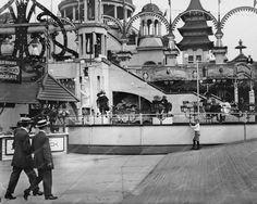Teaser Ride Coney Island Luna Park 1900s 8x10 Reprint Of Old Photo