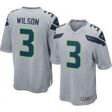 Nike Mens Seattle Seahawks Russell Wilson Jersey 3 Game Team Color Grey Nfl  Seattle 4fa008482