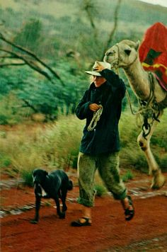 Robyn Davidson photographed by Rick Smolan for her May 1978 National Geographc story about a solo camel trek across Australian outback