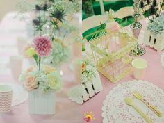 Cailey's Posh Garden Themed Party – Table Centerpiece