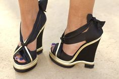 """Black Wedge Heel Sandals """"Want """" #shoes, #fashion, https://facebook.com/apps/application.php?id=106186096099420"""