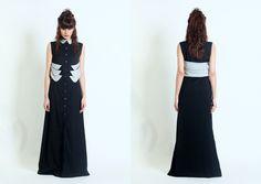 12WABDR046 Women dress with collar detail at waist www.facebook.com/forinsanehuman