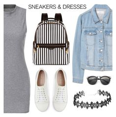 """""""Sporty Chic: Sneakers and Dresses"""" by dora04 ❤ liked on Polyvore featuring MANGO, Mint Velvet, Henri Bendel and SNEAKERSANDDRESSES"""