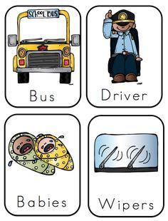 Preschool Printables: Wheels on Bus