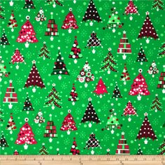 newest design in christmas fabric | Retro Christmas - Discount Designer Fabric - Fabric.com