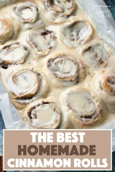 OMG homemade cinnamon rolls, YES PLEASE! These Homemade Cinnamon Rolls are a true classic. Topped with cream cheese frosting, these gooey cinnamon rolls satisfy your sweet craving! They also make the perfect holiday morning breakfast with the family. Quick Cinnamon Rolls, Overnight Cinnamon Rolls, Cinnamon Roll Icing, Cinnabon Cinnamon Rolls, Vegan Cinnamon Rolls, Sticky Cinnamon Bun Recipe, Best Cinnamon Roll Recipe, Bread Machine Cinnamon Rolls, Cinnabon Recipe