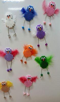 Hama Beads Design, Hama Beads Patterns, Beading Patterns, Bead Crafts, Diy And Crafts, Diy For Kids, Crafts For Kids, Hama Beads Christmas, 3d Perler Bead