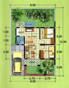 40 Examples of Minimalist House Plans Type 36 Various Models Minimalist House Design, Small House Design, Minimalist Home, Minimalist Architecture, Home Room Design, Home Design Plans, Type 45, Small House Floor Plans, House Layouts
