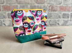 Large Pencil Case, Pencil Cases, Large Makeup Bag, Makeup Pouch, Large Bags, Pouches, Printed Cotton, Hair Accessories, Community
