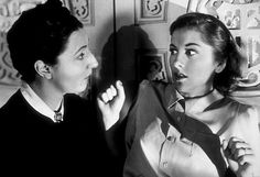 """Mrs. Danvers (in black) played by Judith Anderson in the movie """"Rebecca"""""""