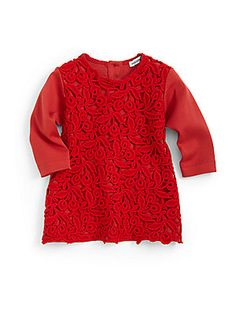 Dolce & Gabbana Infant's Lace-Front Knit Dress