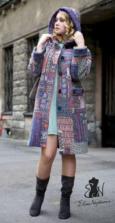 Верхняя одежда ручной работы. авторское пальто в стиле пэчворк. Найденова Елена. Интернет-магазин Ярмарка Мастеров. Пальто женское