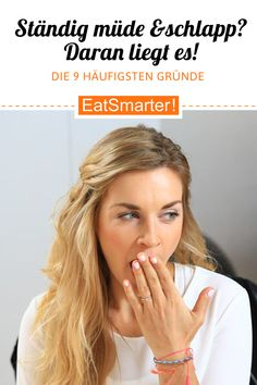 Constantly tired and tired? These are the reasons for it eatsmarter.de # tired Constantly tired and tired? These are the reasons for it eatsmarter. Ayurveda, Constantly Tired, Human Body, Healthy Life, Low Carb, Workout, Tricks, Coaching, Weight Loss Diets