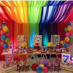 Festa Pintando o 7 by @kiaravieiramartinsdecor ❤️ #asfestasmaisdesejadas @asfestasmaisdesejadas
