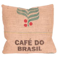 cute pillow for a breakfast nook! lean against this while drinking coffee :)
