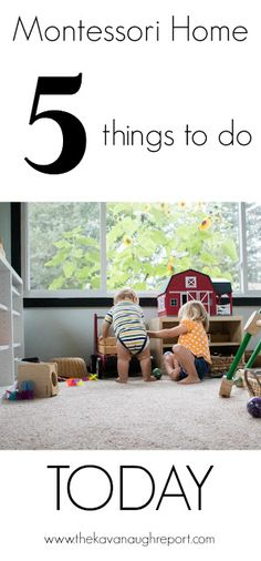 5 easy things to do today to create a Montessori home. Simple changes to give your children independence! Montessori Preschool, Preschool Activities, Maria Montessori, Things To Do Today, 5 Things, Teaching Kids, Kids Learning, Healthy Pregnancy Tips, Montessori Practical Life