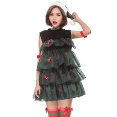 MV Women New Christmas Tree Cake Korean Dance Cosplay Dress Best Halloween Costumes & Dresses USA Christmas Costumes, Cool Halloween Costumes, Christmas Tree Cake, Cosplay Dress, Fashion Brands, Topshop, Korean, Dance, Disney Princess