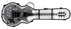 ★Xフレームカバーデザイン!「ギター レントゲン」