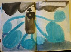 ouverture L'olandese volante di R.Wagner la tempesta - acquerello - bambini di 5 anni