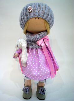 Tilda doll Handmade doll Fabric doll Textile doll Interior