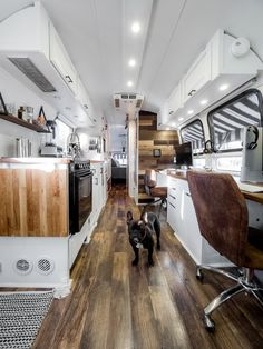 Our Airstream tiny shiny home - back view! Click for before + afters! #airstream #remodel #renovation #tinyhome