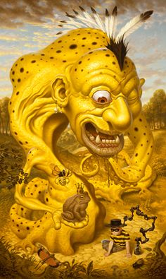 Todd Schorr, The Amphibian Frontier. Pressure Printing embellished lim.ed. giclee came in today. woot