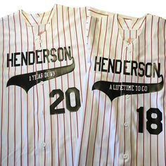1 year anniversary gift idea for the baseball lovers. These customizable baseball jerseys are a great idea for celebrating your first year of marital bliss. Keep things fresh and fun 1 Year Anniversary Gifts, Themed Weddings, Baseball Jerseys, Wedding Announcements, Double Knitting, Just Married, Save The Date, Team Logo, Bliss