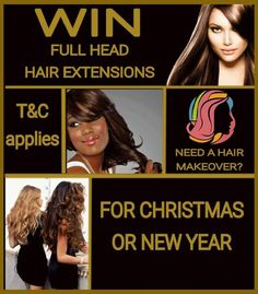 Win free full head Hair Extensions in Dudley