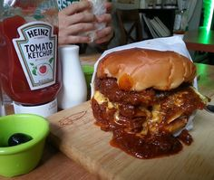 Hot Chili Burger @ House Grill
