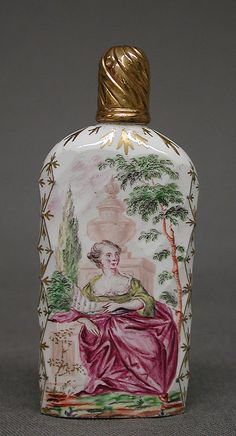 Scent Bottle  Date: ca. 1770–90 Culture: English, probably Bristol Medium: Glass Dimensions: H. 3 1/8 in. (7.9 cm)