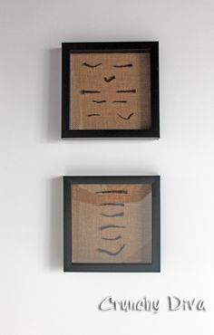 burlap rust nail antique shadow box www.crunchydiva.com