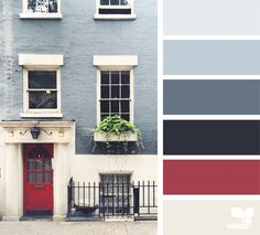 consider this color for 3614 exterior...pewter or silver trim w/green door