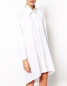 Image 3 ofThe Laden Showroom X Mirror Mirror Open Cowl Back Shirt Dress