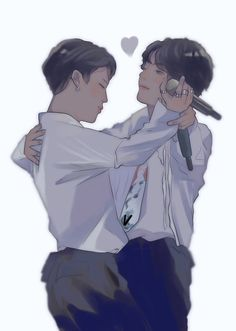 Jikook, Bts Vmin, Jimin Jungkook, K Pop, Fanart Kpop, Anime Angel Girl, Yoonmin Fanart, Bts Drawings, Amazing Drawings