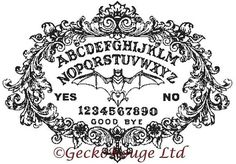 Cross Stitch Pattern 'Color In Cross Stitch' Ouija by GeckoRouge