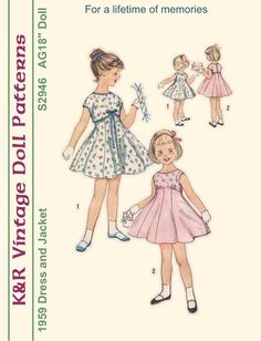 18 American Girl Vintage 1950s Dress and by The2ndLifeMercantile, $6.00