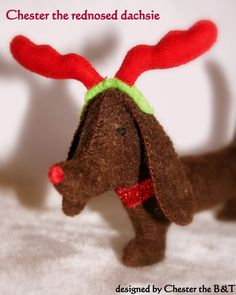 The Chester Christmas Dachshunds by ChestertheBandT on Etsy