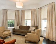 Modern Living Room With Custom Windows