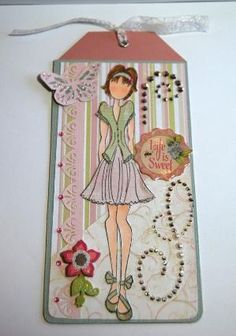 Prima Doll Tag Life is Sweet Handmade Paper Tag by Smiles4Paper, $6.00 by roxanne